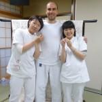 Me voici entouré des stagiaires japonaises